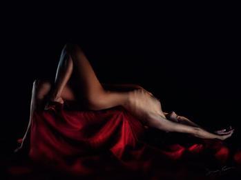 Hedy - Darkness & Light - indoor naked - caravaggesca 3